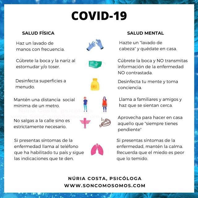 Coronavirus, salud física y mental