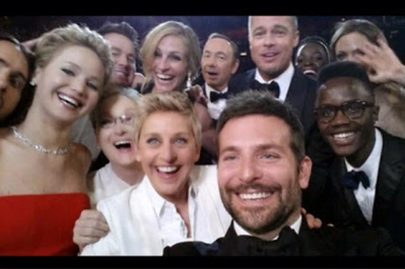 selfie actores en los oscar